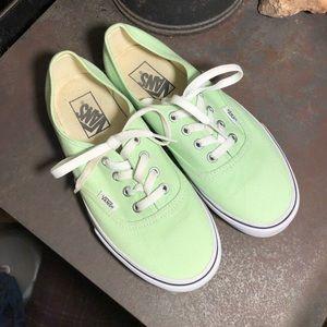 Pastel Green Vans